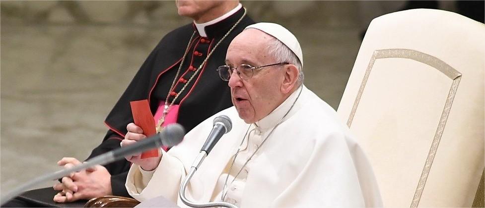 Paus Franciscus tijdens de algemene audiëntie van woensdag 11 januari 2017 © SIR