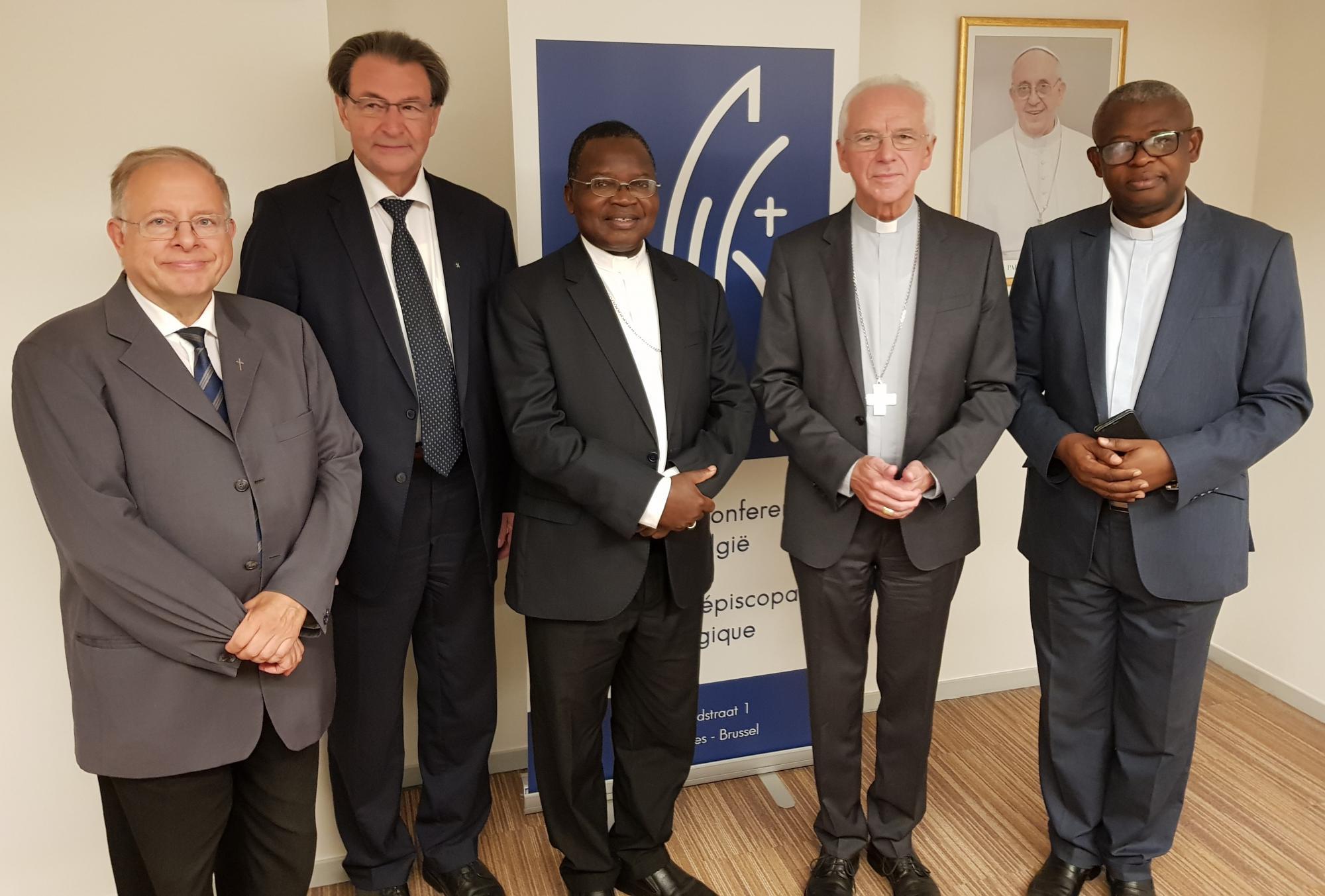Eind vorige week was een tweekoppige delegatie van de CENCO, de Bisschoppenconferentie van DR Congo, op bezoek in Brussel © Geert Lesage