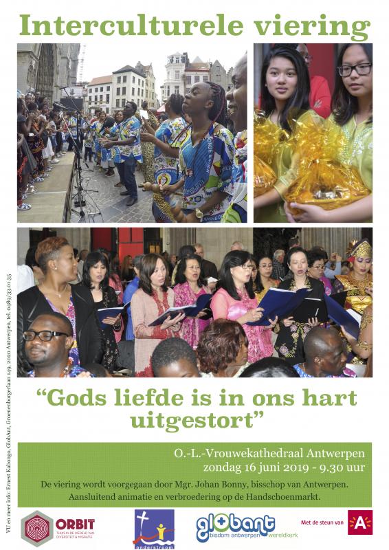 Affiche interculturele viering © Globant bisdom Antwerpen