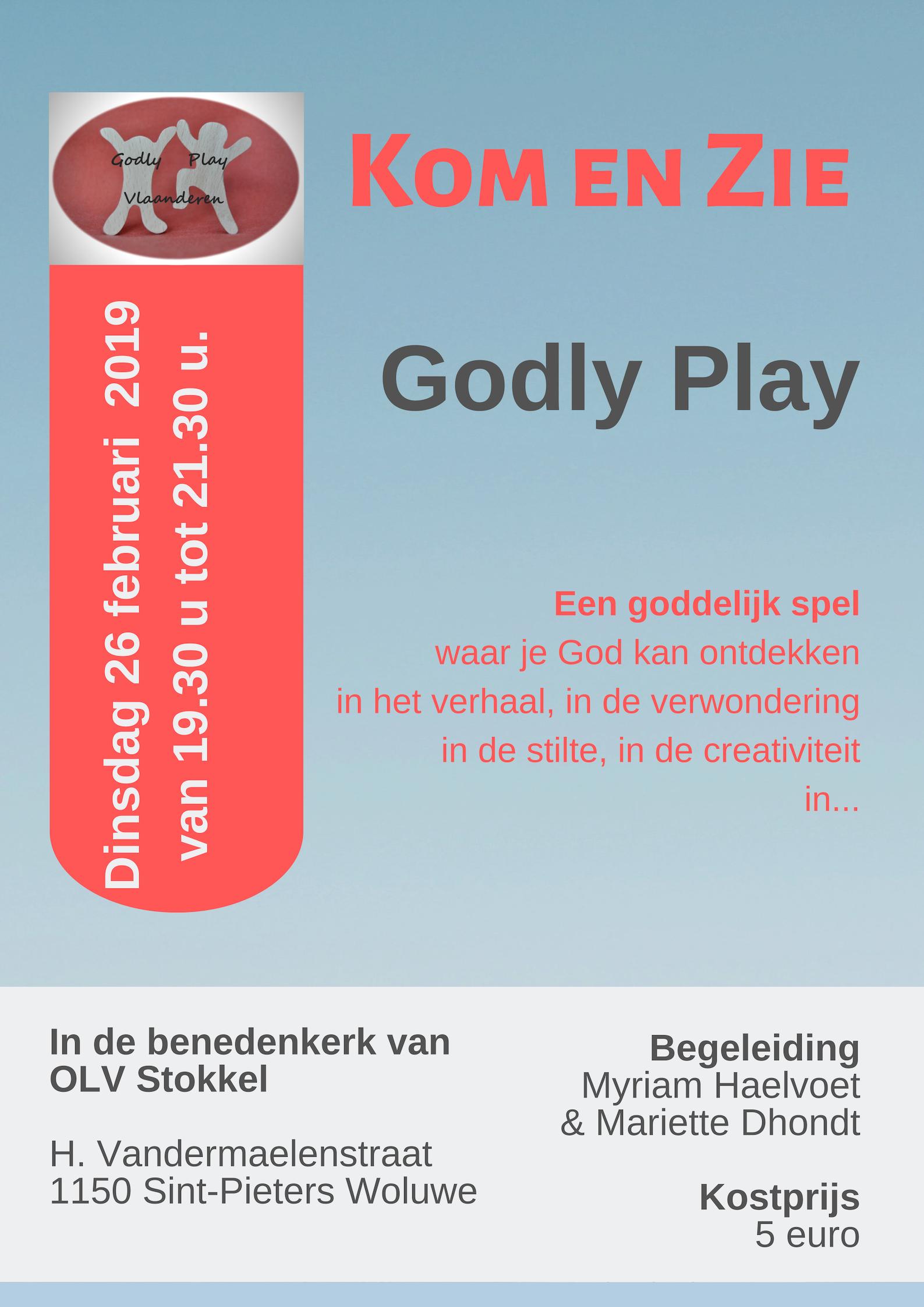Godly Play Kom en Zie-avond op 26 februari 2019