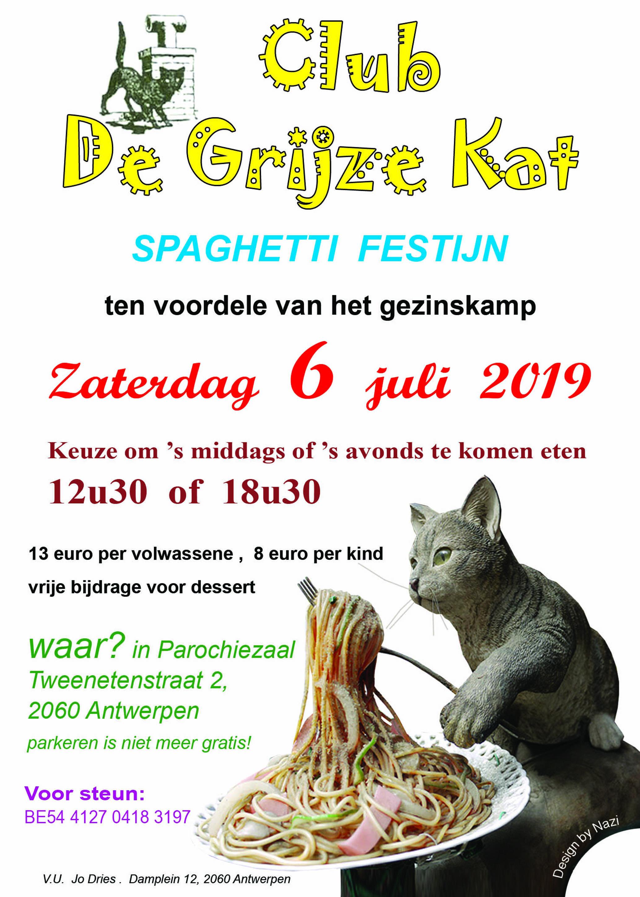 Spaghettidag Club De Grijze Kat