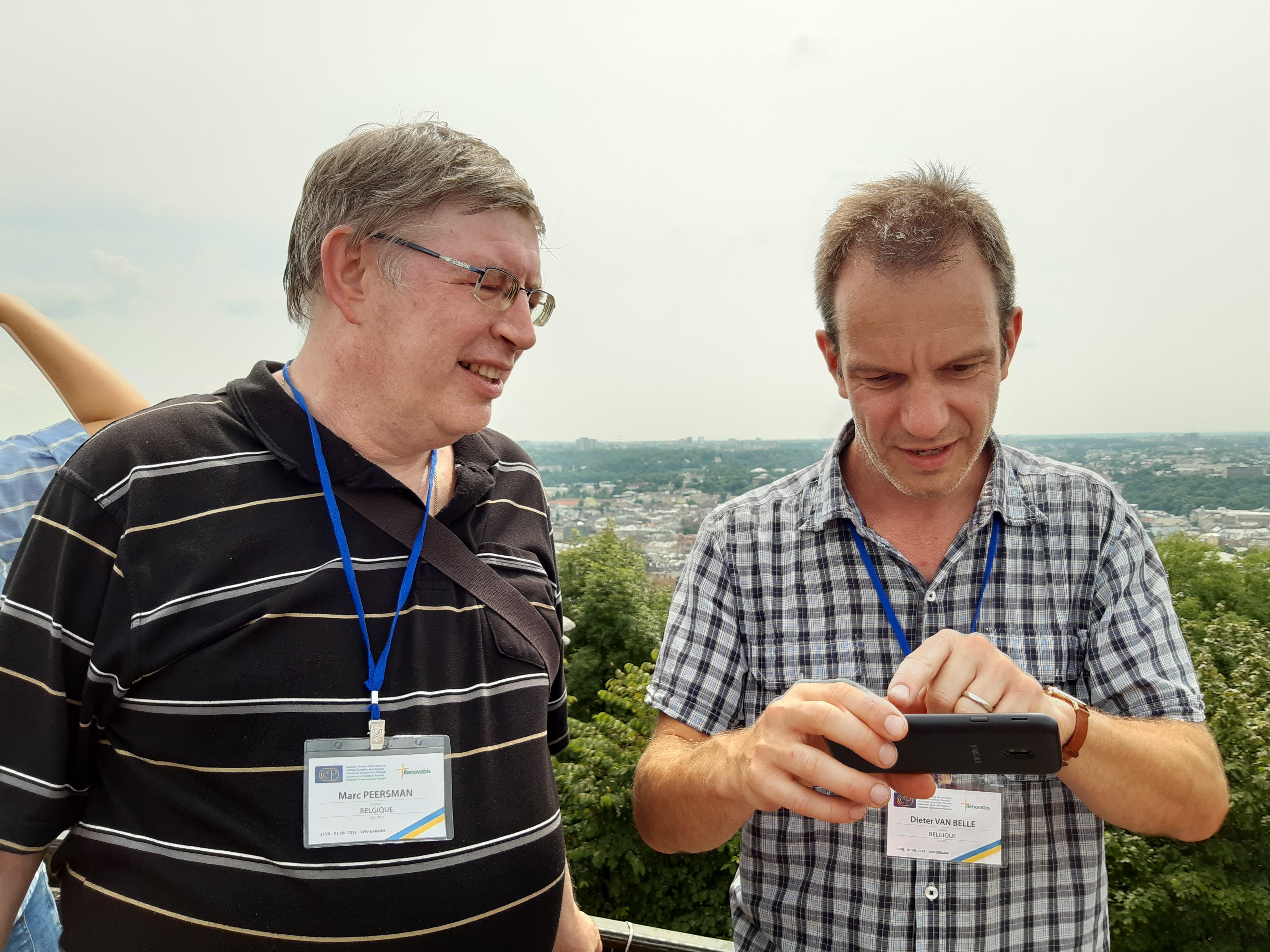 Marc Peersman en Dieter Van Belle in Lviv © CCV Gent