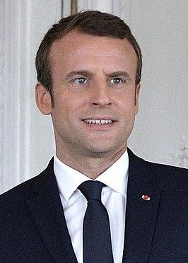 De Franse president Macron © Wikimedia Commons