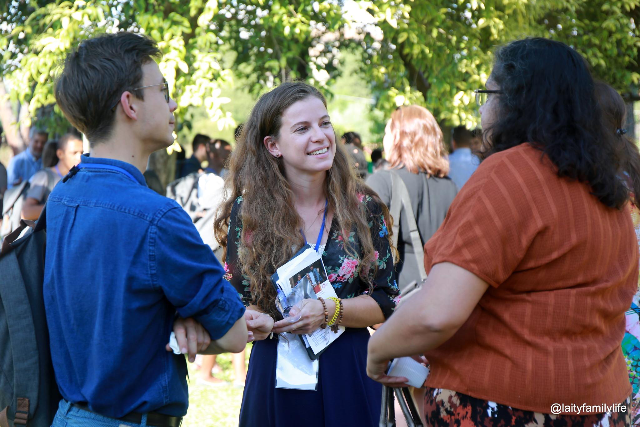 Forum 'Jongeren in actie in een synodale Kerk'. Klik op de foto om door te gaan naar een fotoalbum op Flickr. © Dicasterie Leken, Gezin en Leven