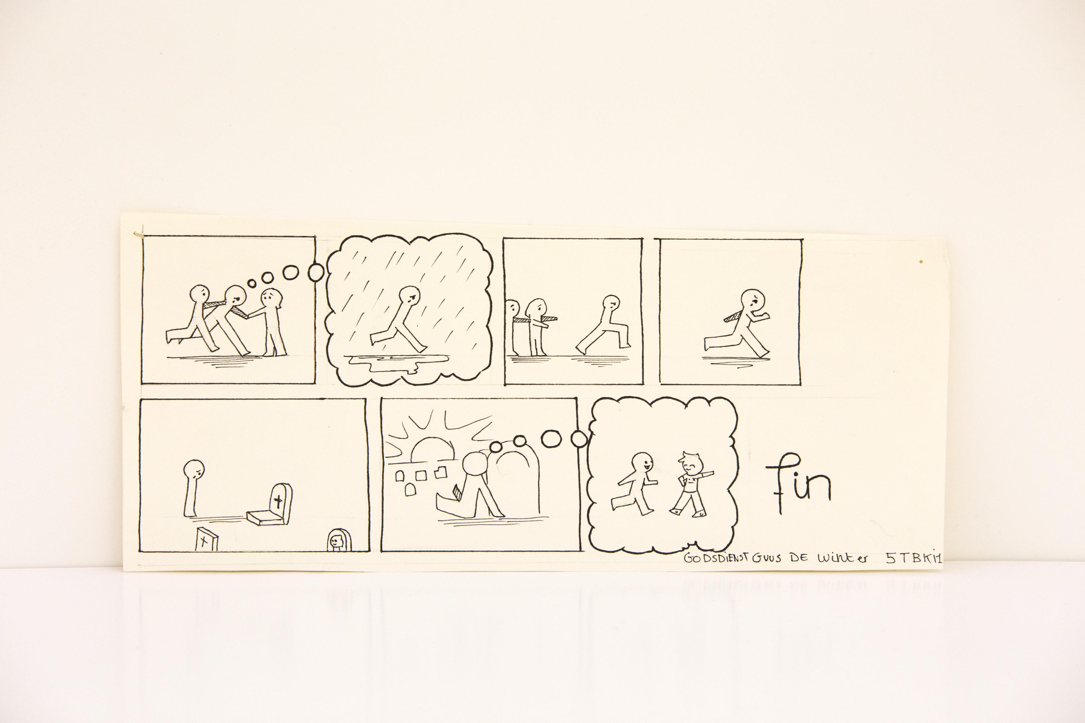 Cartoon over rouwen © Guus De Winter
