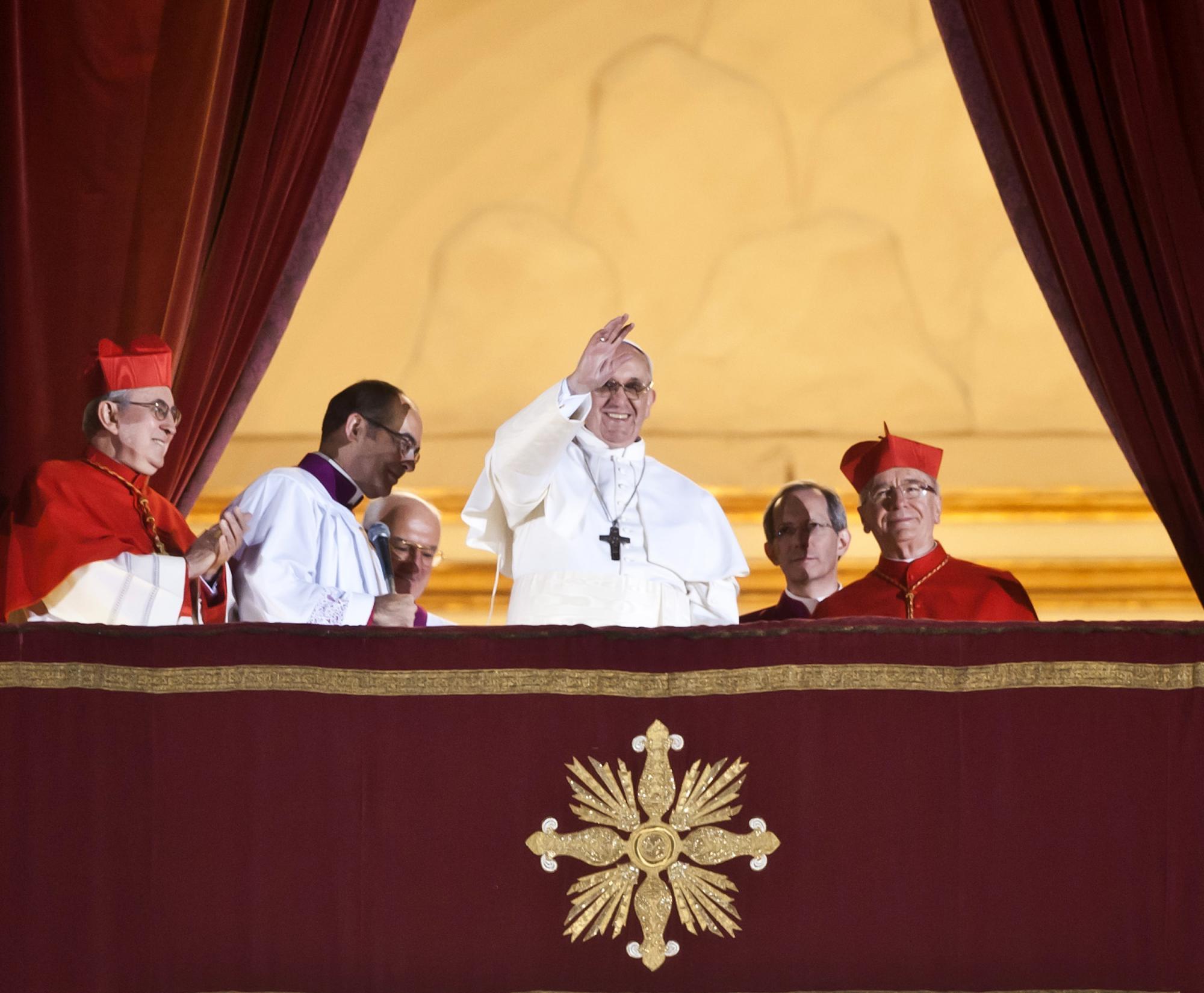 Eerste publieke verschijning paus Franciscus © © Mazur/catholicnews.org.uk