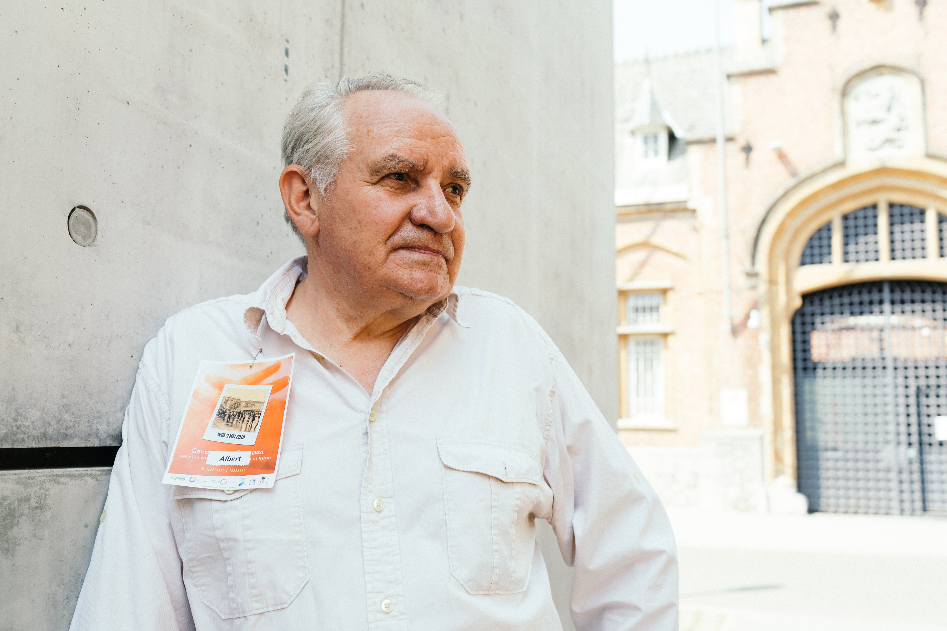 Ex-gedetineerde Albert heeft zijn leven terug op de sporen. 'Mijn straf was kort maar nuttig.' © Mathias Hannes