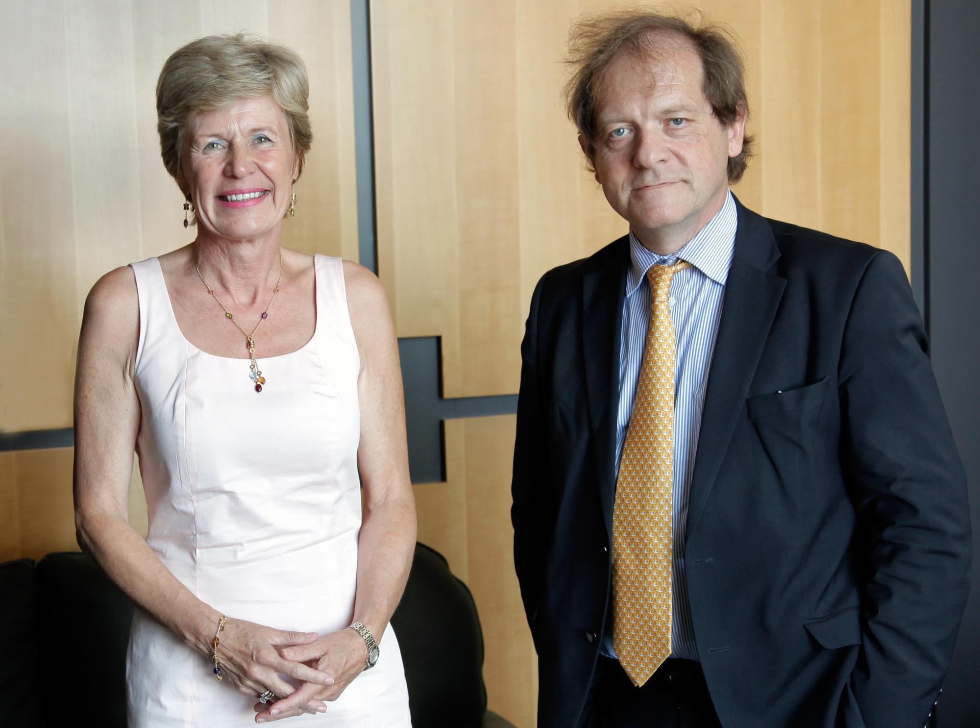 De rectoren Anne De Paepe van de UGent en Rik Torfs van de KU Leuven  © Rob Stevens