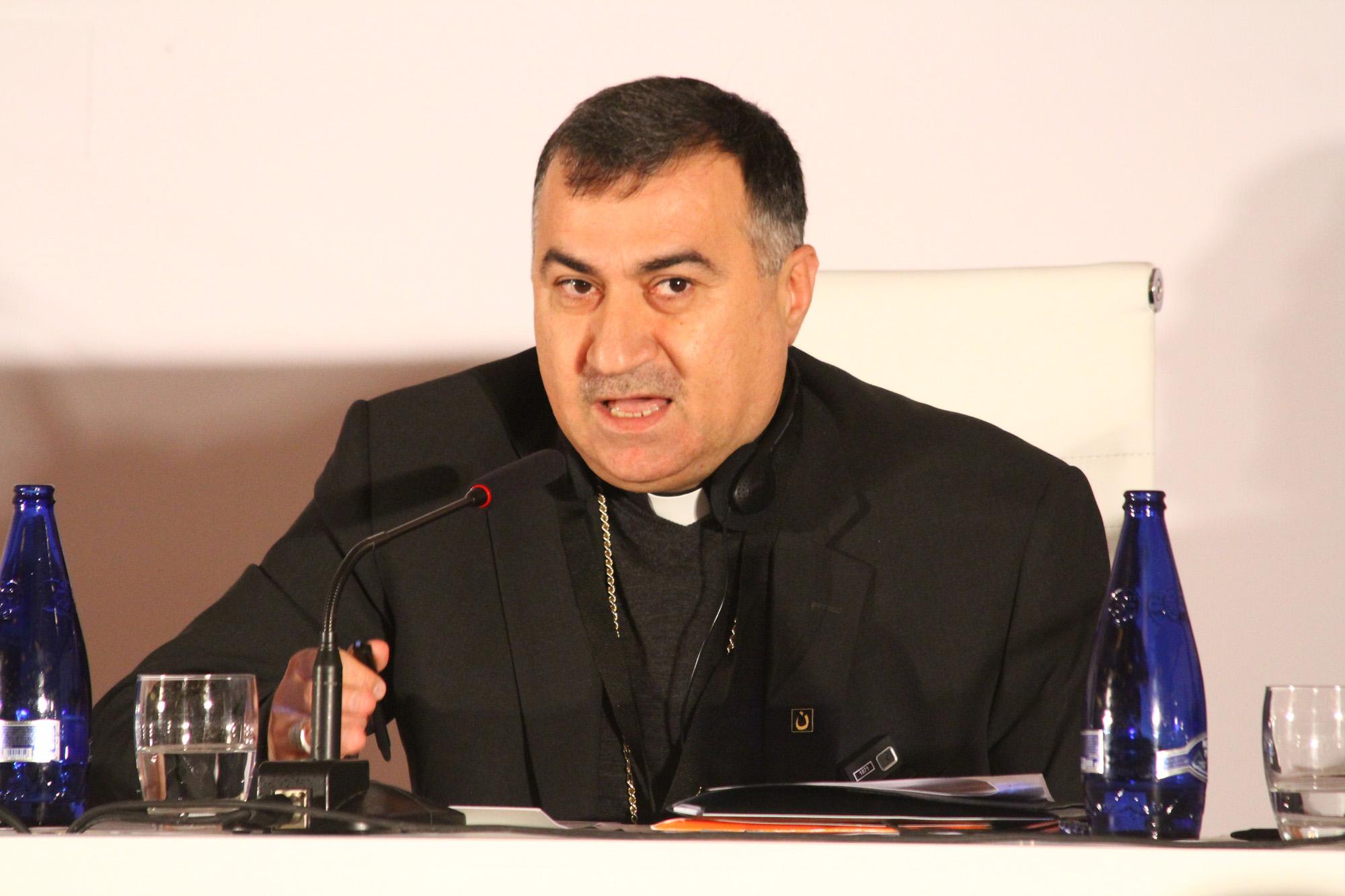 De Chaldeeuws-katholieke aartsbisschop Bashar Warda van de Noord-Iraakse hoofdstad Erbil  © RR