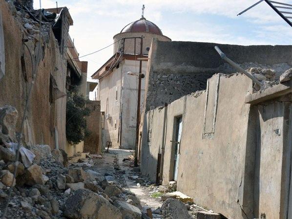 In Batnaya (Irak) leefden 850 christelijke gezinnen, tot aan de doortocht van IS © Kerk in Nood