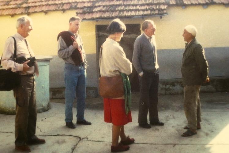 Familie Deckers bezoekt broer Charles in Algerije. © Familiearchief Charles Deckers
