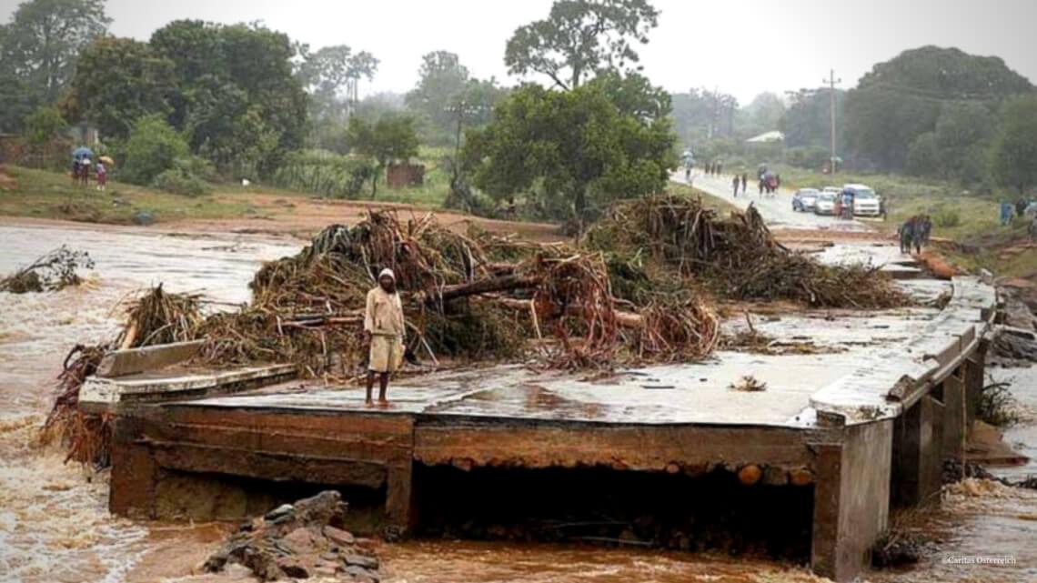 Verwoesting van cycloon IDAI © Caritas International