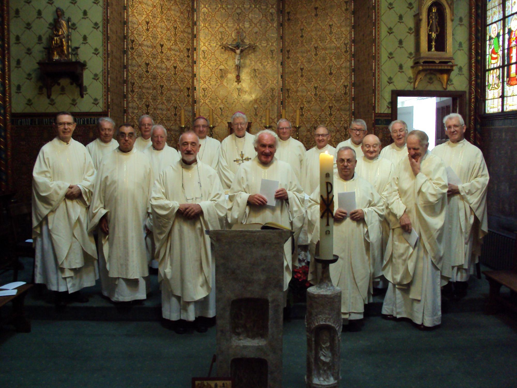 Jubilerende priesters, wijdingsjaar 1968 © Bisdom Gent, foto: Claire-Marie Cloquet