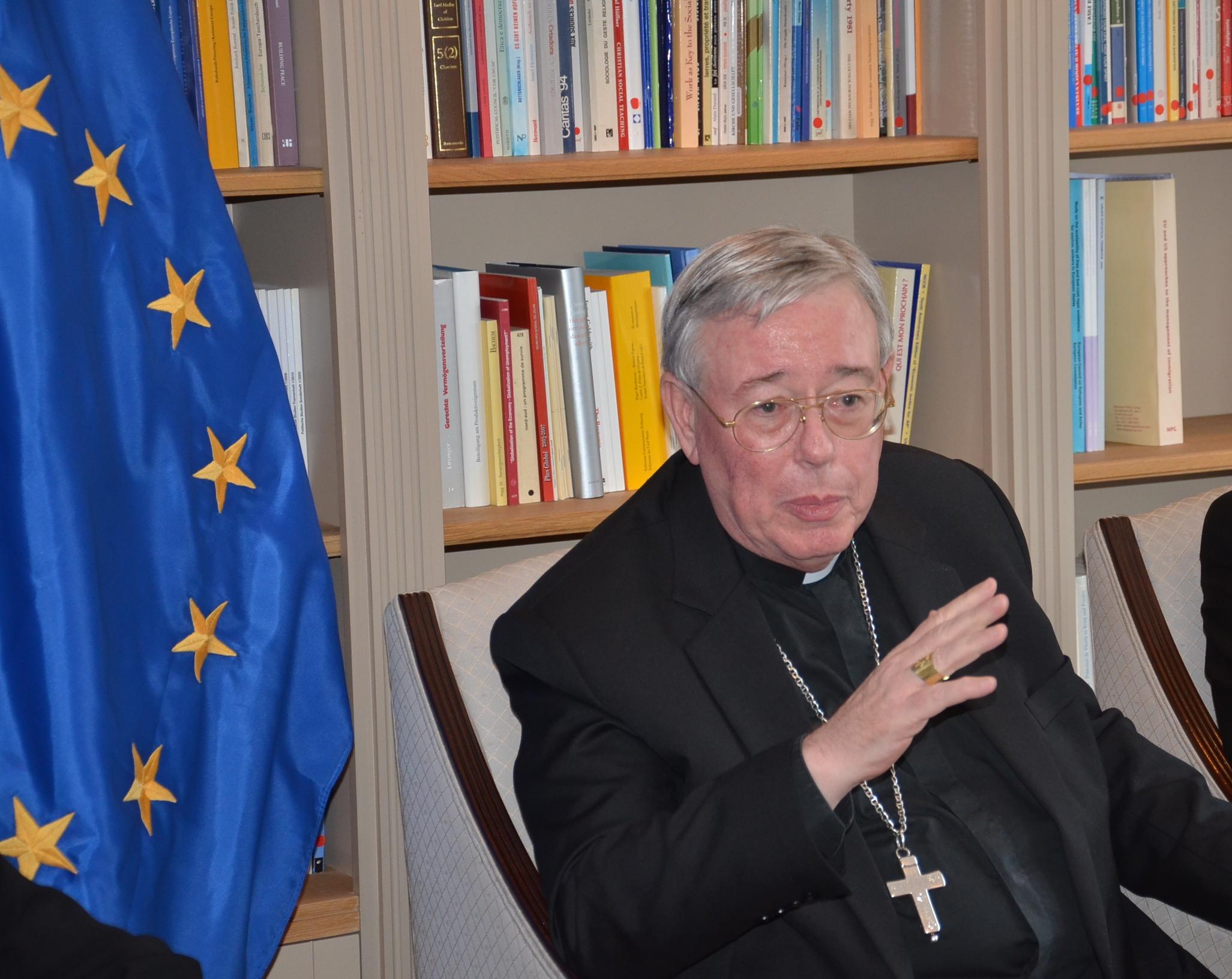 Mgr. Jean-Claude Hollerich, jezuïet, aartsbisschop van Luxemburg en voorzitter van COMECE © Hellen Mardaga