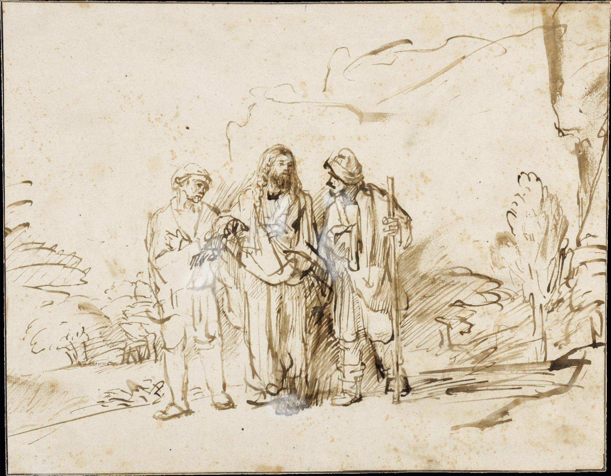 De Emmaüsgangers: Rembrandt (1655)