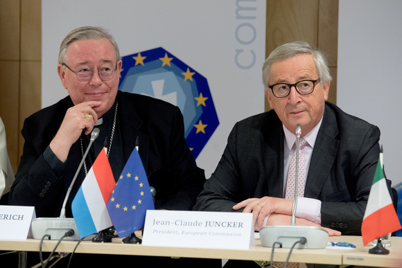 JUncker en Comece-voorzitter Hollerich © Persdienst EU/Etienne Ansotte
