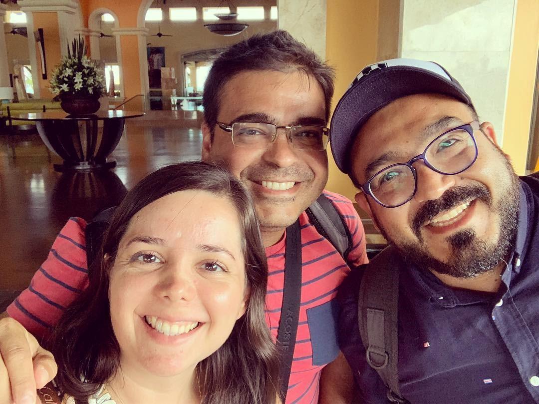 Met mijn broer Daniël en zijn vrouw Lily © Reynaldo Diaz.