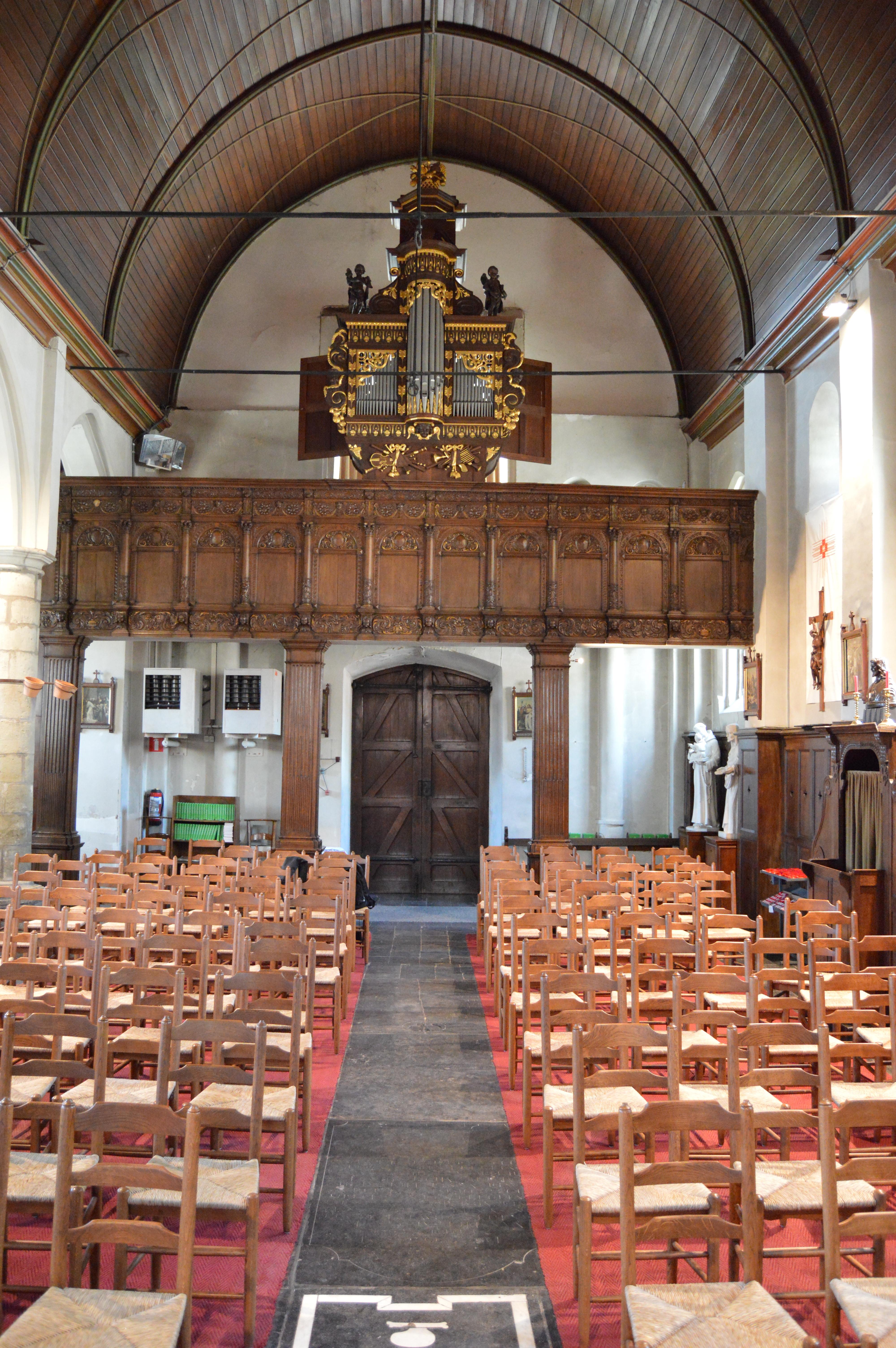 Het prachtige orgel van de kerk.  © Sarah De Smedt