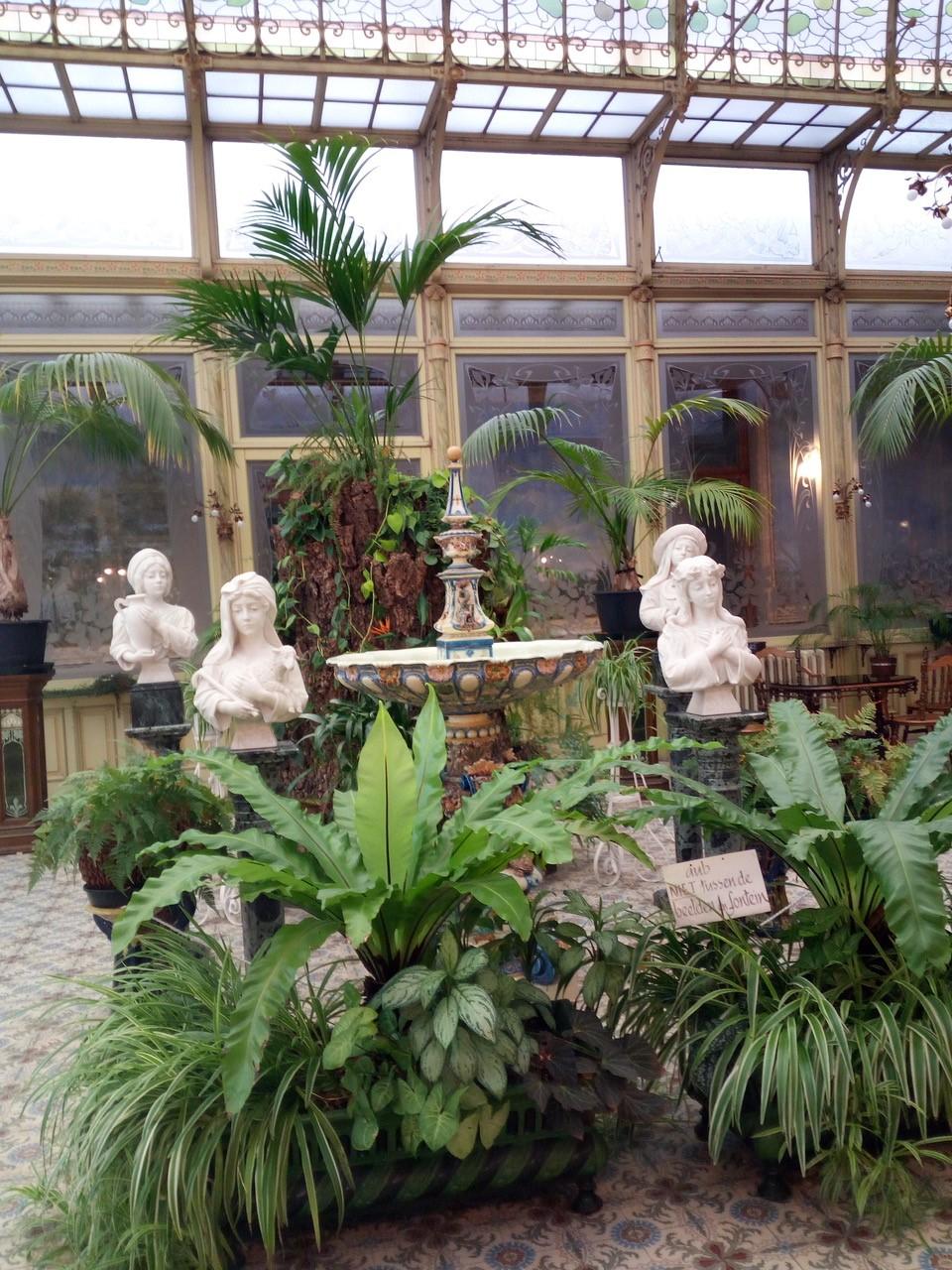We bewonderden de unieke wintertuin van het klooster van O.L.Vrouw-Waver. © Dina Deygers