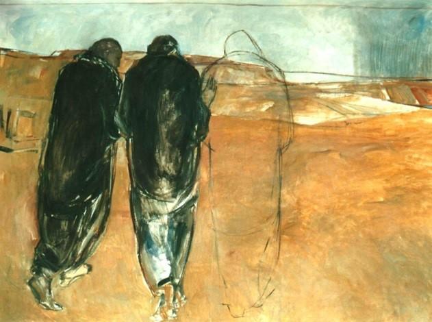 Unterwegs nach Emmaüs © Janet Brooks-Gerloff; Abtei Kornelimünster