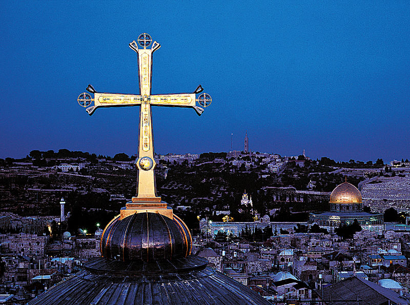 Golgothakruis van de H. Grafkerk in Jeruzalem © Paul Nagel