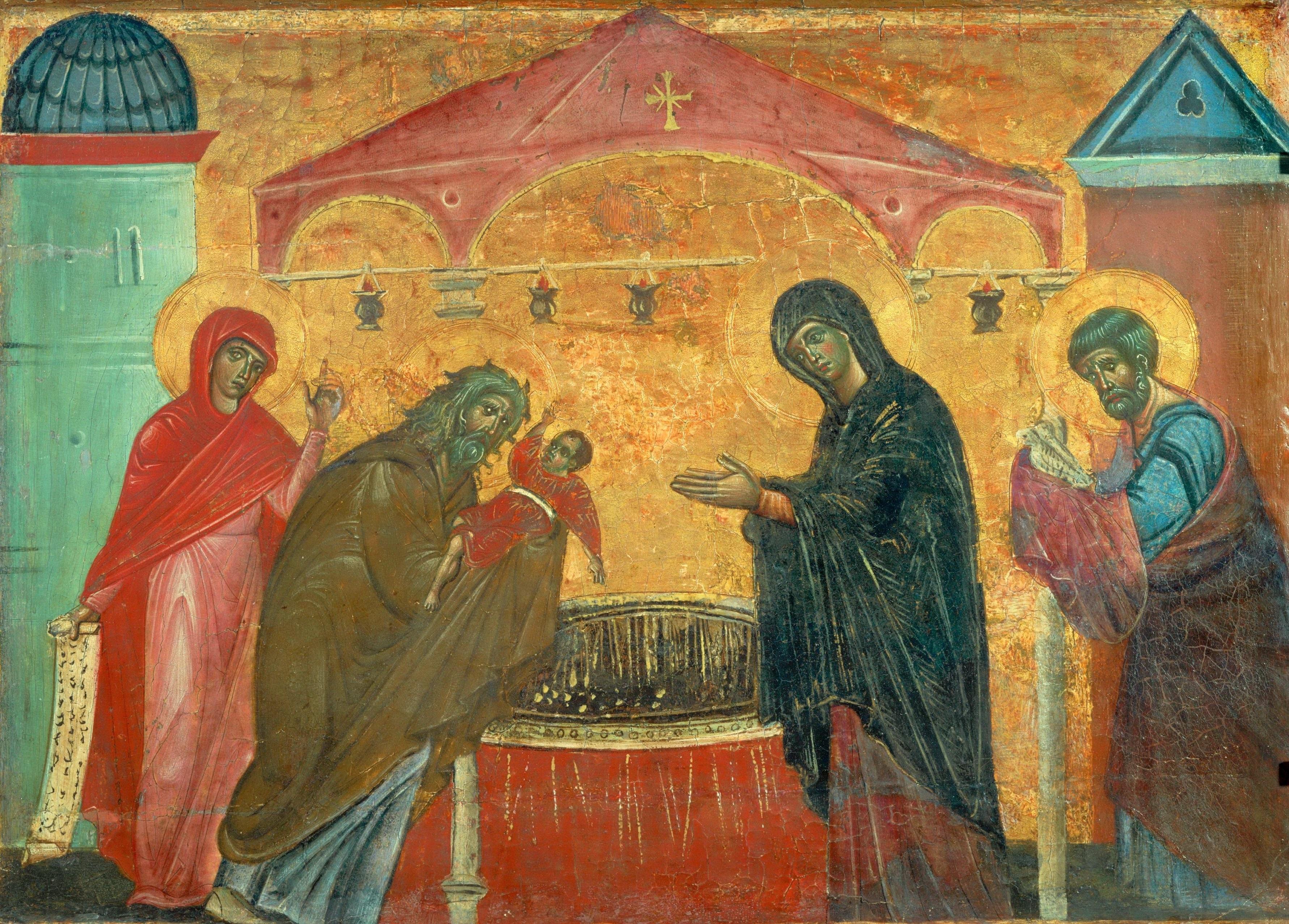 Guido Da Siena - Opdracht van de Heer in de tempel