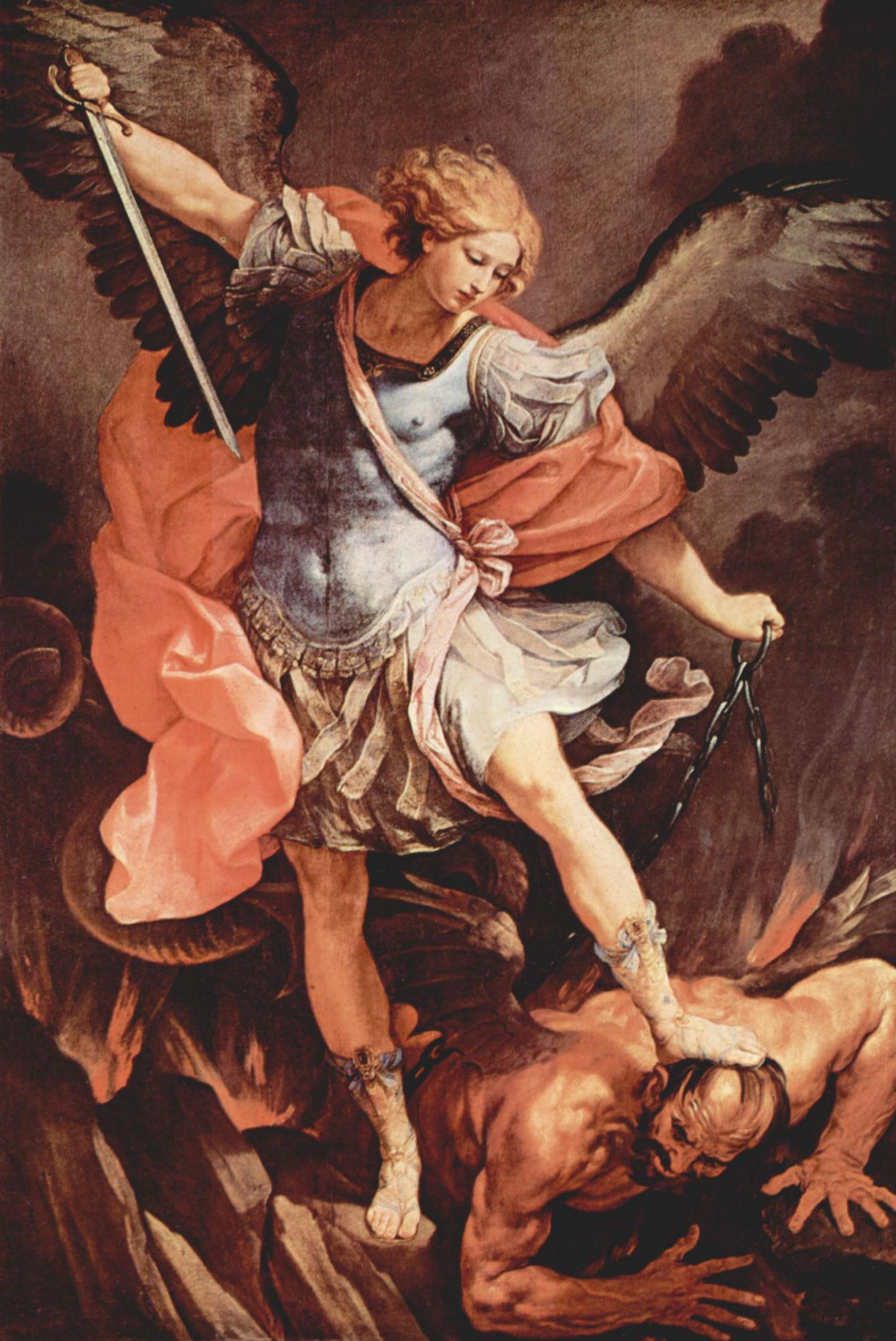 Aartsengel Michaël, Guido Reni ca. 1636 © The Yorck Project (2002) Wikimedia