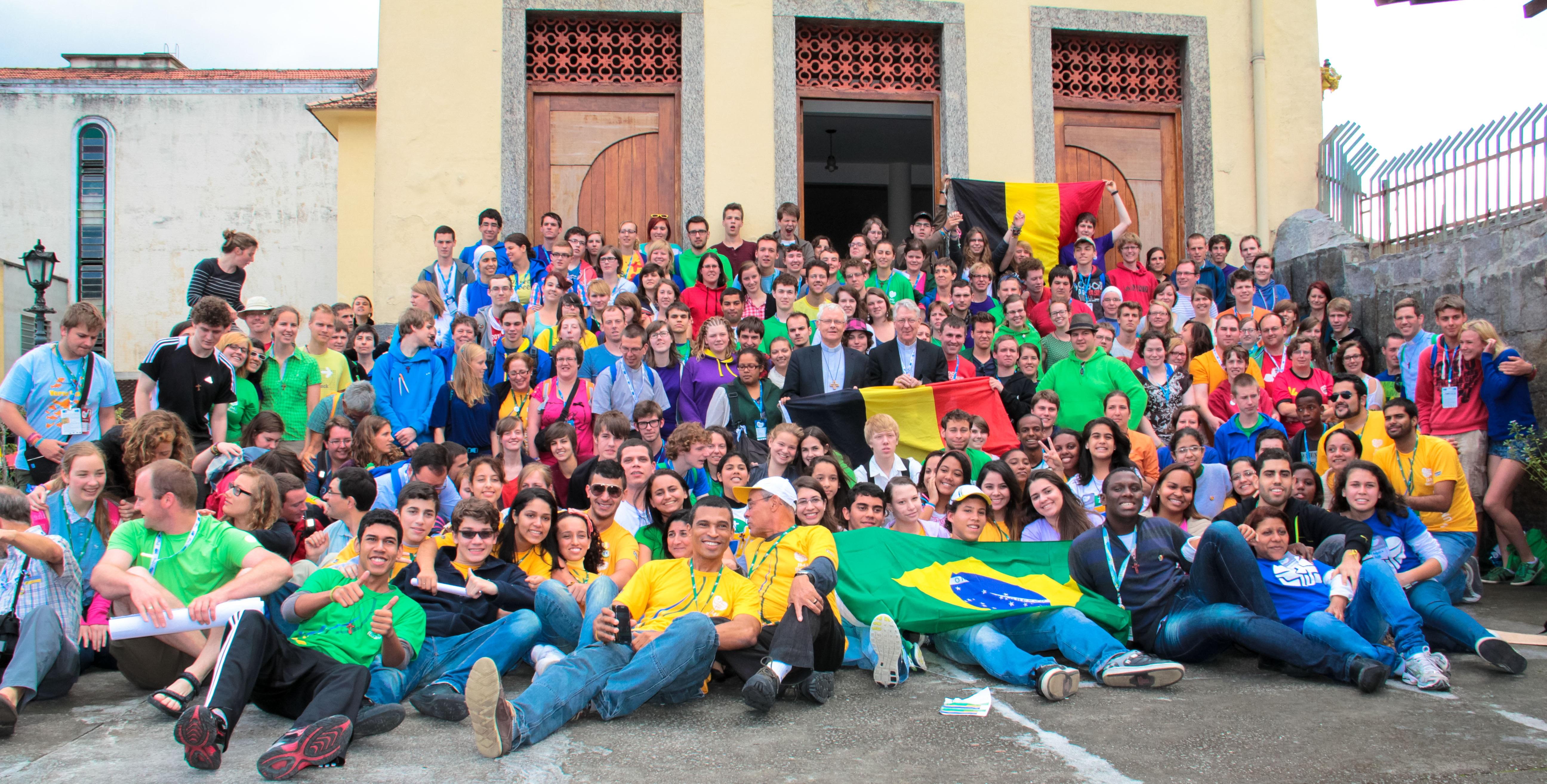 Vlaamse deelnemers aan de WJD in Rio © Persdienst bisdom Hasselt