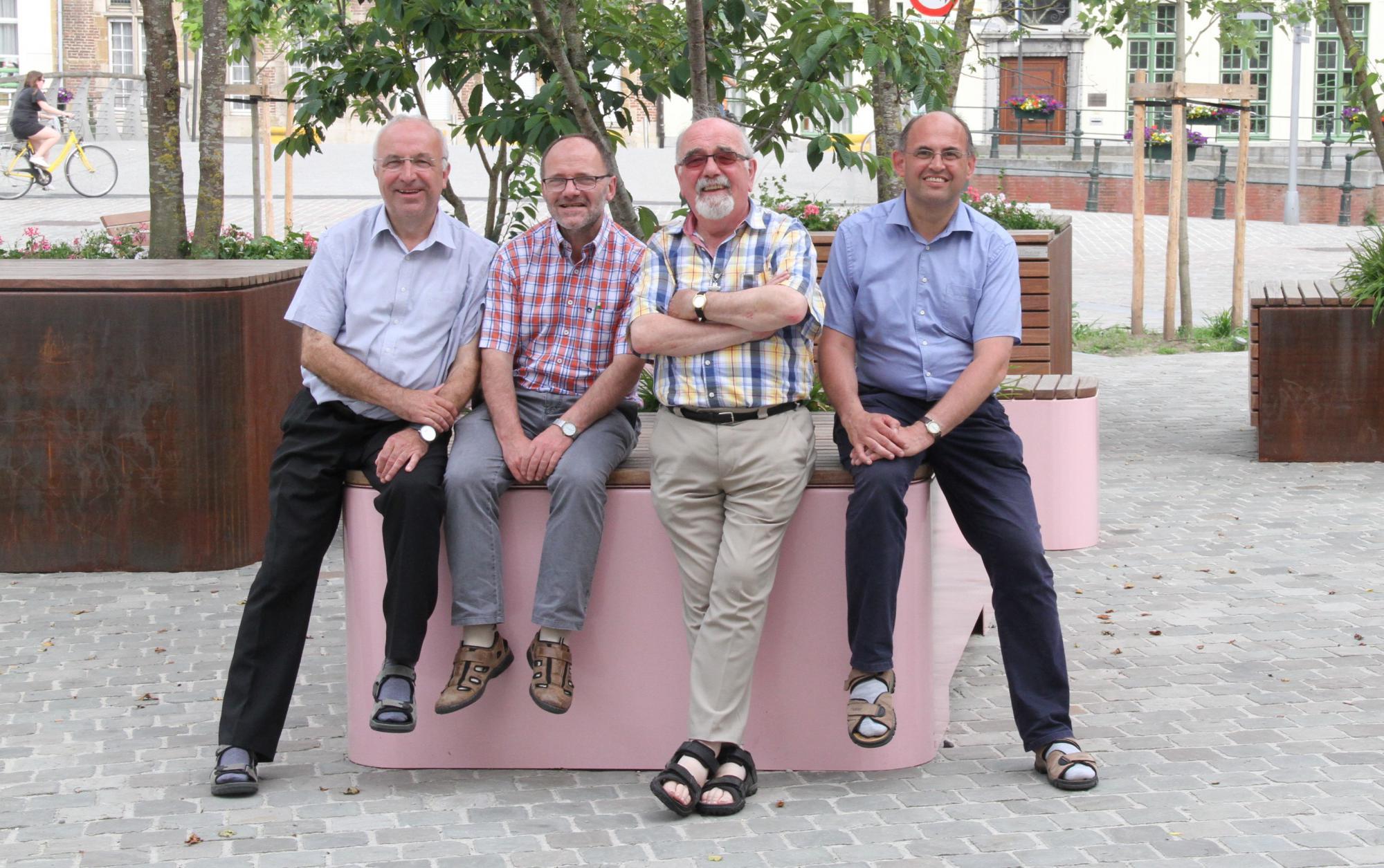 Van l nr r: Geert Cattrysse, Marc Verwaeren, Wilfried Van Wilder en Yvan Stassijns © Bisdom Gent, foto: Ellen Eeckhout