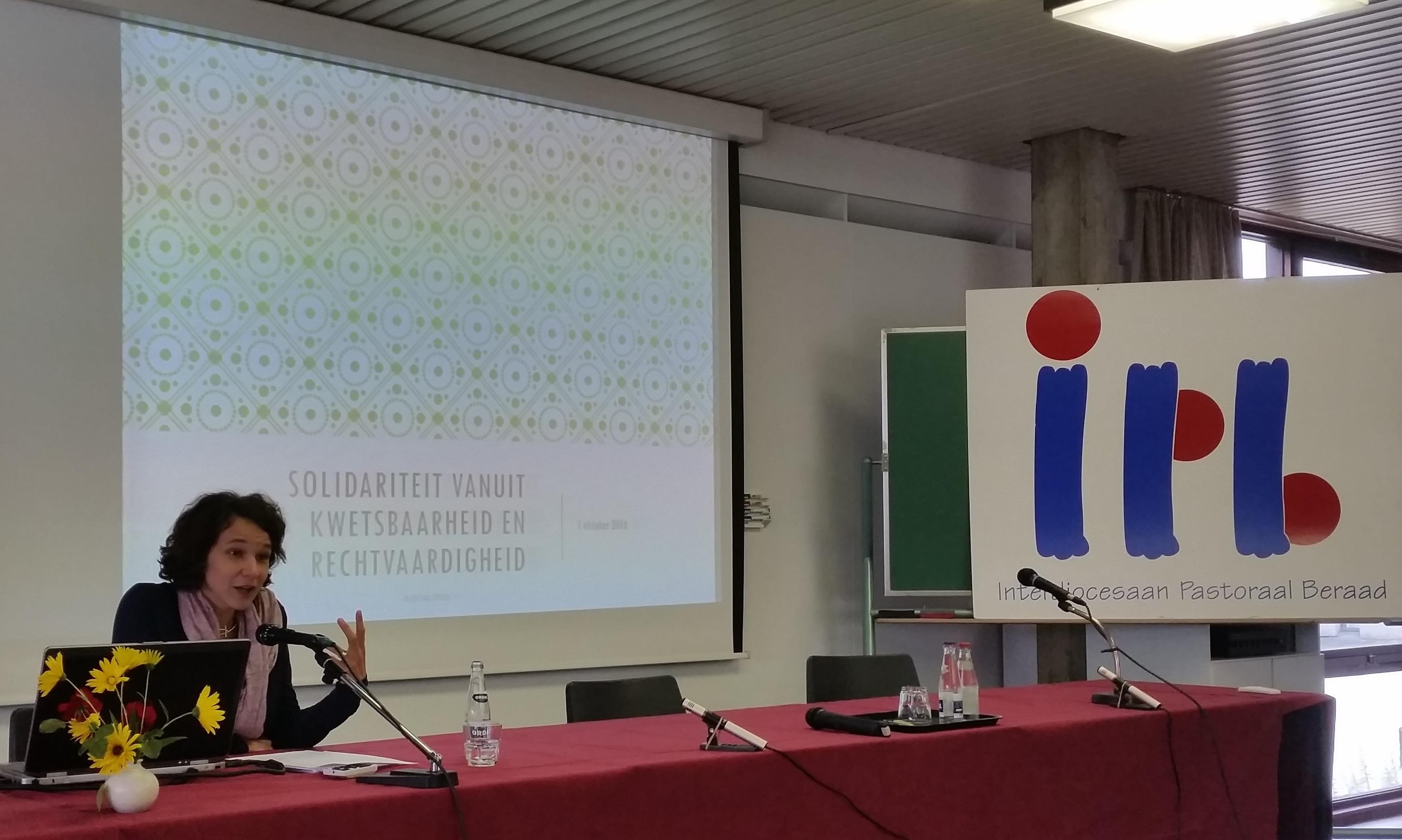 Ellen Van Stichel op het IPB-forum © GL