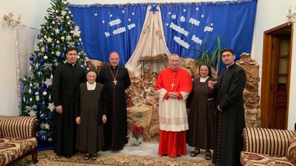 Staatssecretaris Parolin op bezoek in Irak © Vatican Media