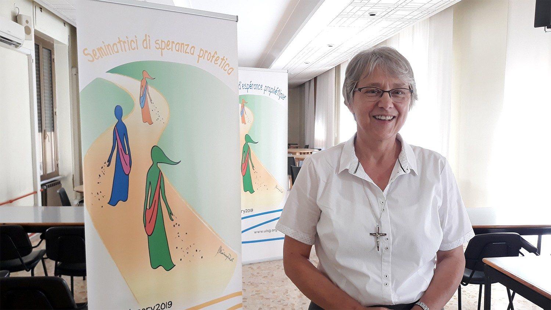 Zuster Jolande Kafka, de hogere overste van UISG © Vatican Media