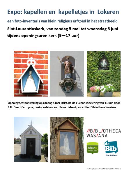 'Kapellen en kapelletjes in Lokeren, een foto-inventaris van klein religieus erfgoed in het straatbeeld'