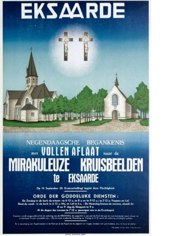 """Kruiskapel te Eksaarde - """"Een oude affiche van de kruisdagen"""""""
