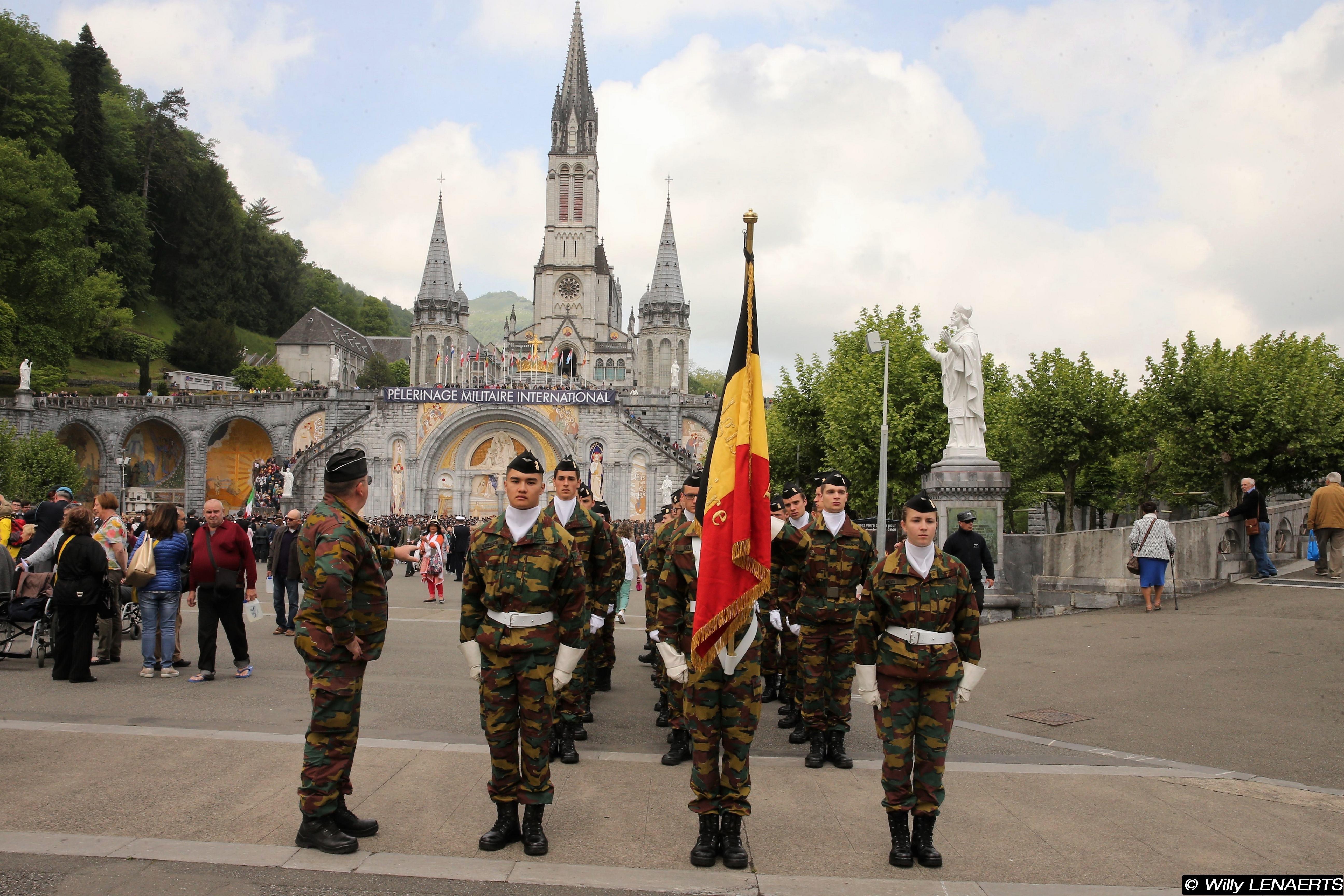 Belgische kadetten in Lourdes © Willy Lenaerts/bisdom bij de Krijgsmacht