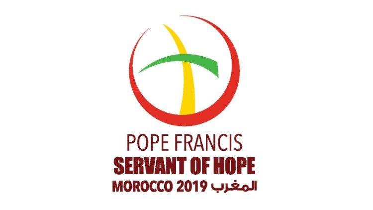 Het logo van het pausbezoek aan Marokko © Vatican Media