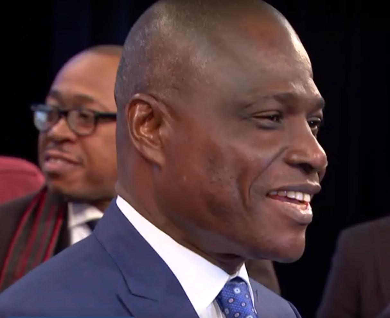 De Congolese oppositiekandidaat Martin Fayulu is vol lof voor de rol die de Kerk in zijn land speelt © VRT