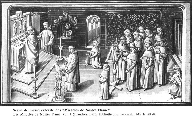 Gregoriaans was in de middeleeuwen de liturgische muziek bij uitstek. © Bibliothèque nationale de France