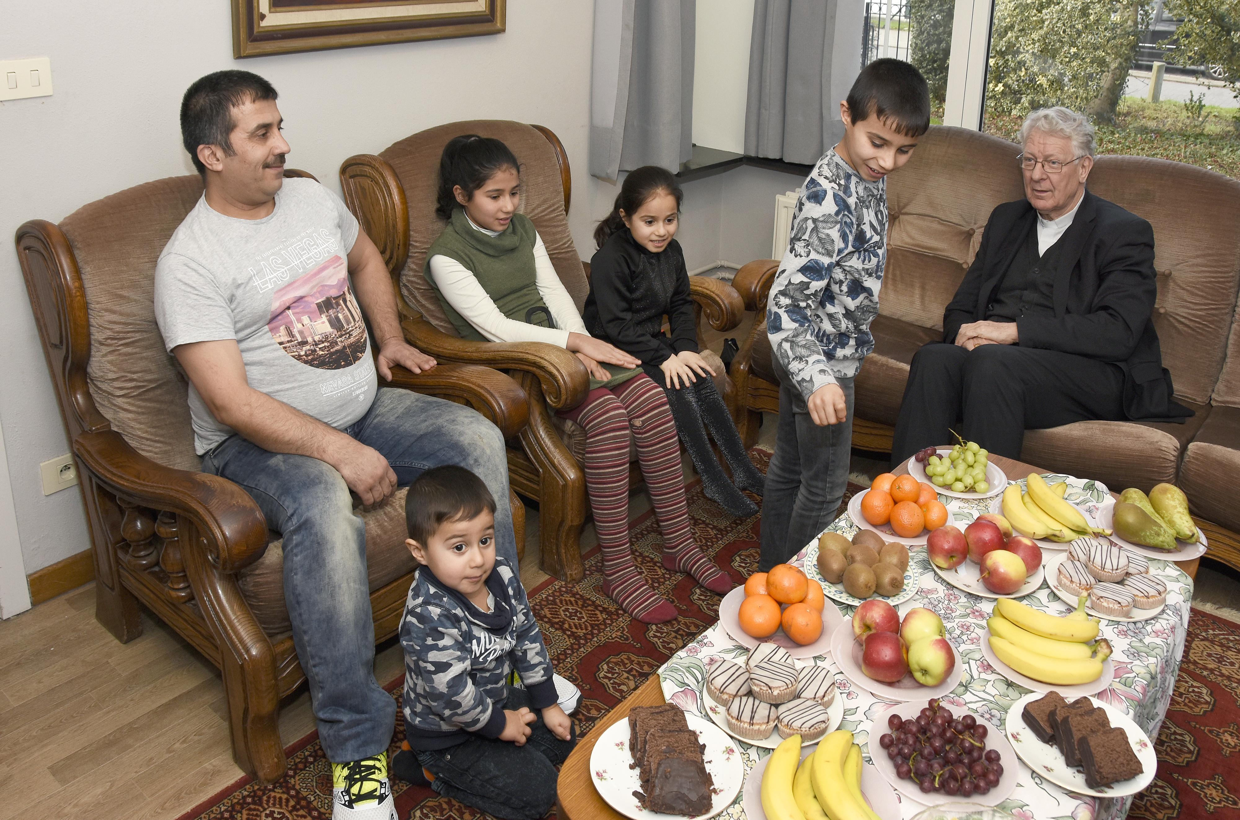 Met Syrische familie in Bassevelde © Maîtrise