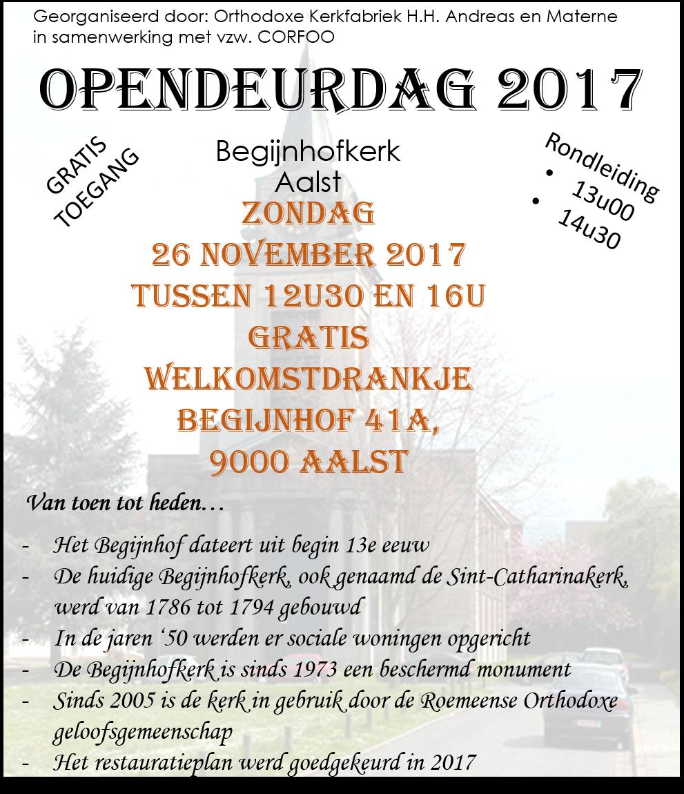 Uitnodiging voor de opendeurdag