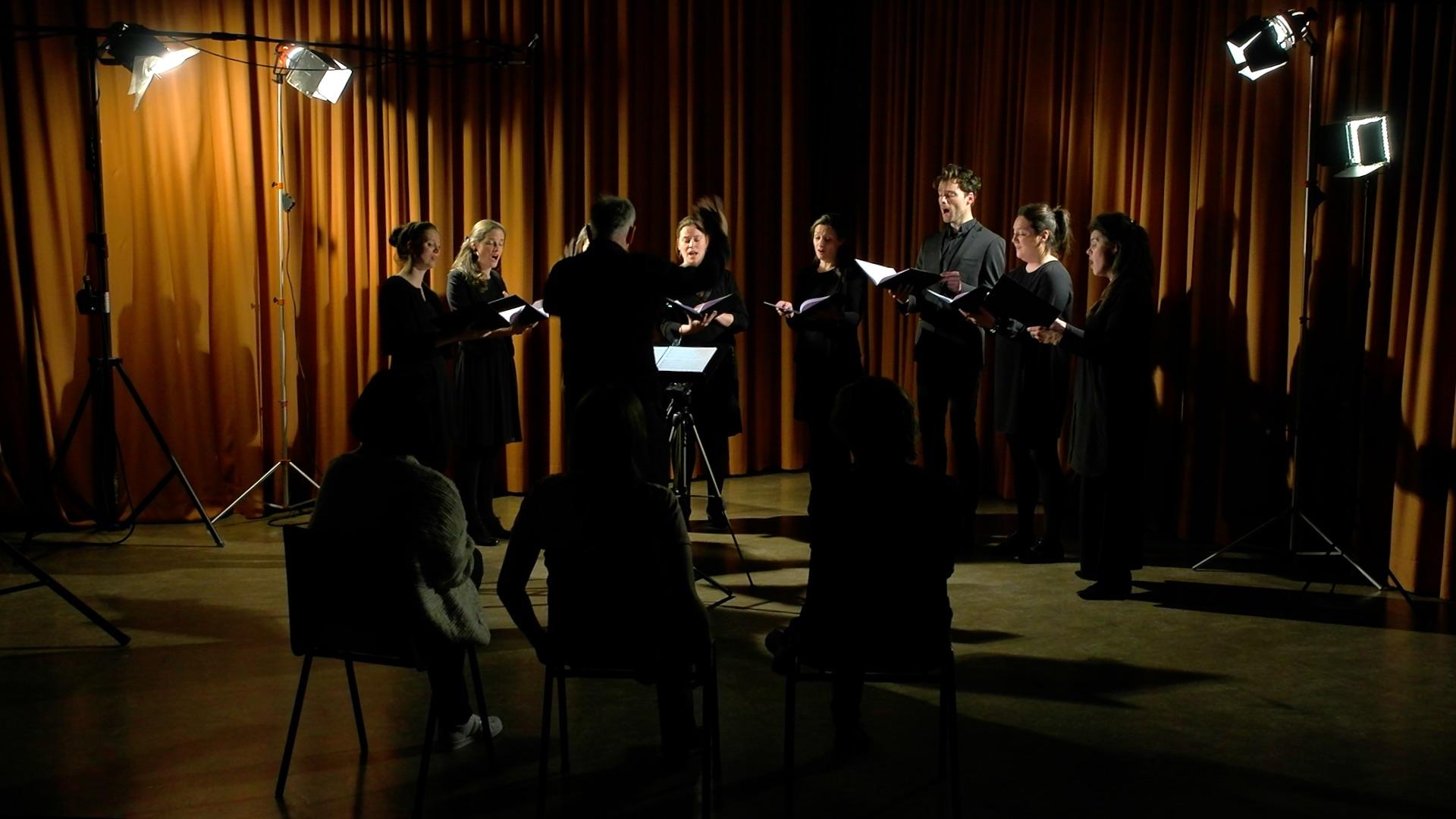 Psallentes zingt Boetepsalmen van Orlandus Lassus in het detentiecentrum Brugge. © Musica