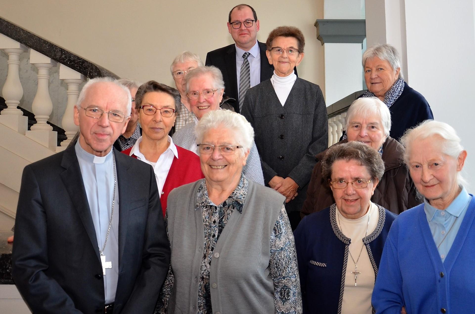Religieuzen die de voorbije decennia zorg hebben gedragen voor de werking van het vicariaat in de vicariale raad en de religieuzenraad © (c) Hellen Mardaga