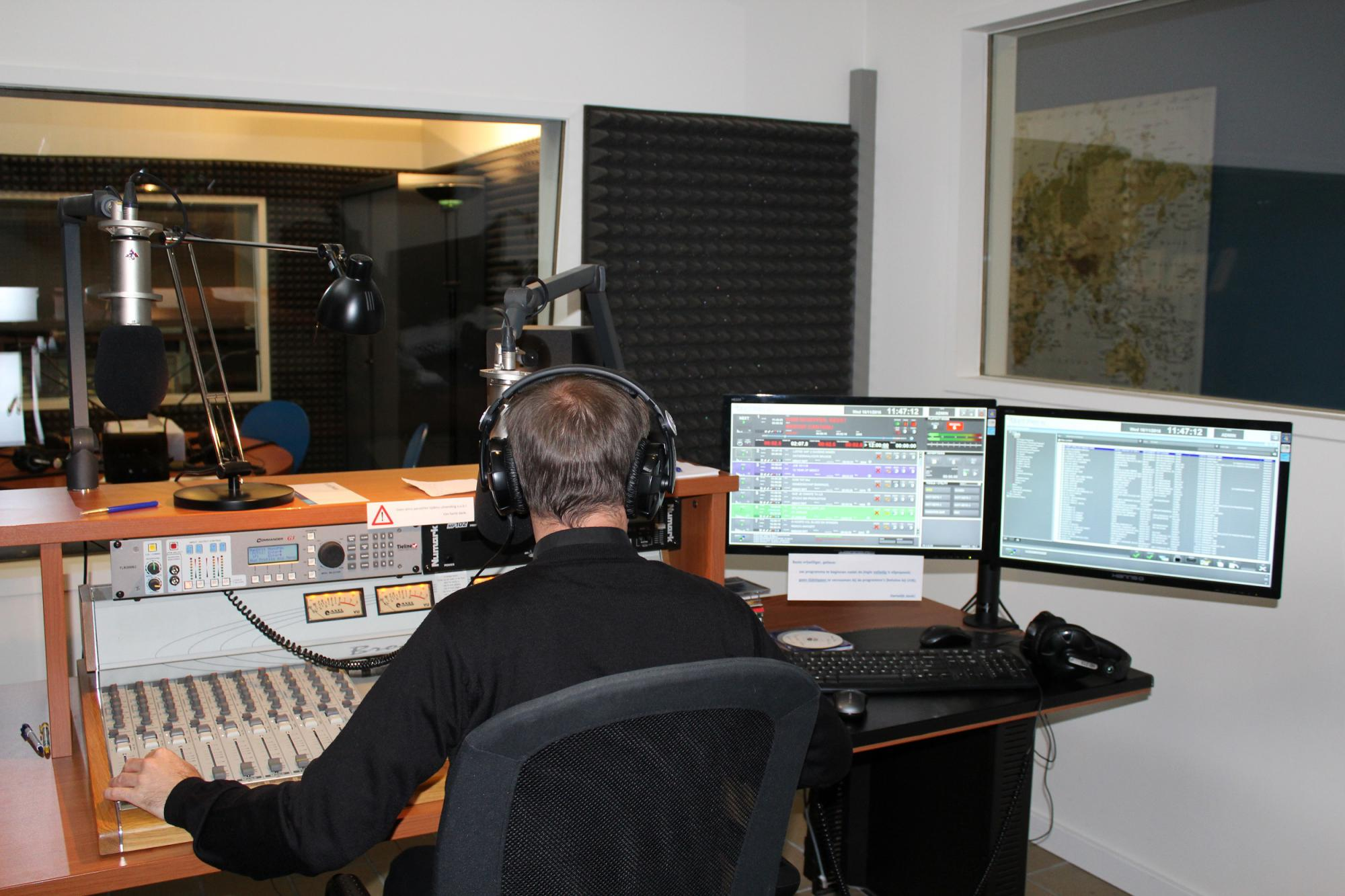 In de studio bij Radio Maria © Radio Maria