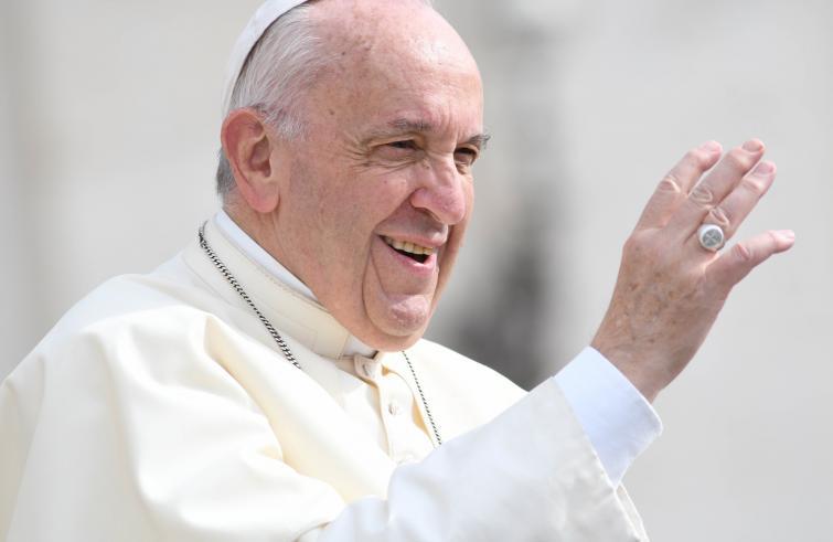 Paus Franciscus tijdens de audiëntie © SIR/Marco Calvarese
