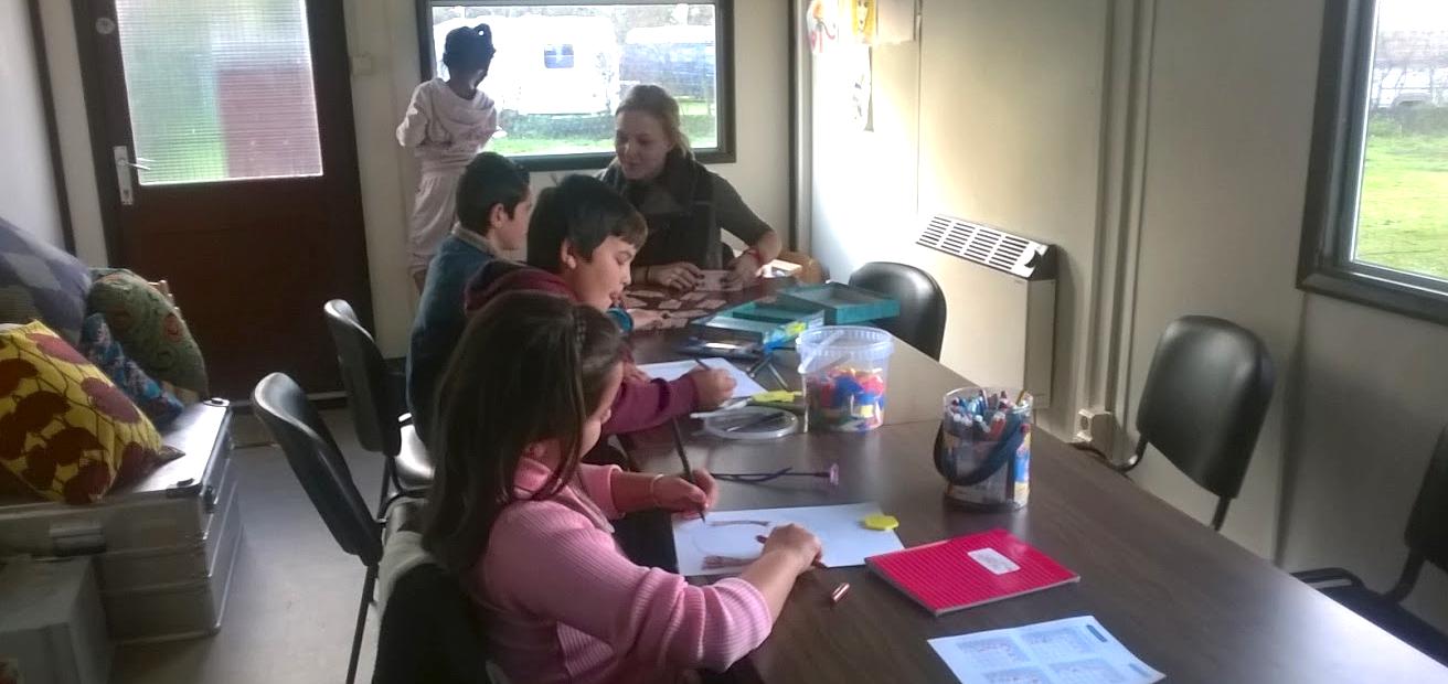 Iedere week krijgen hier 15 à 20 kinderen les. © LL