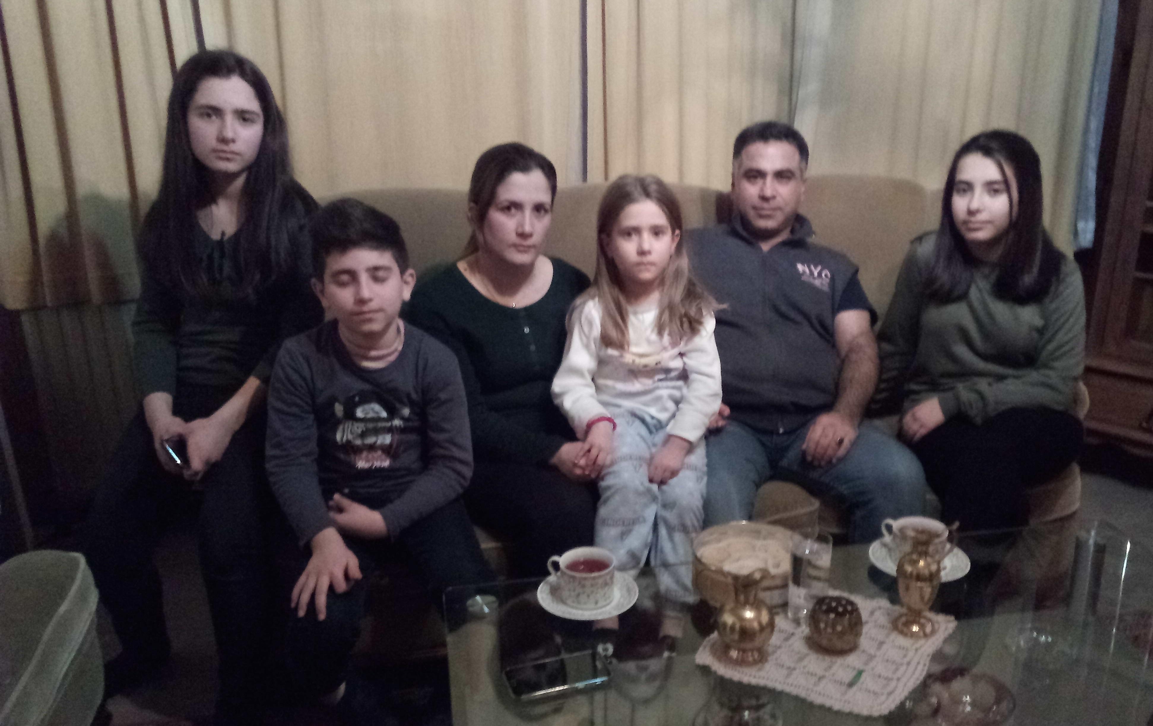 Familie Sheikho uit Syrië in Genk. © Odette Storms