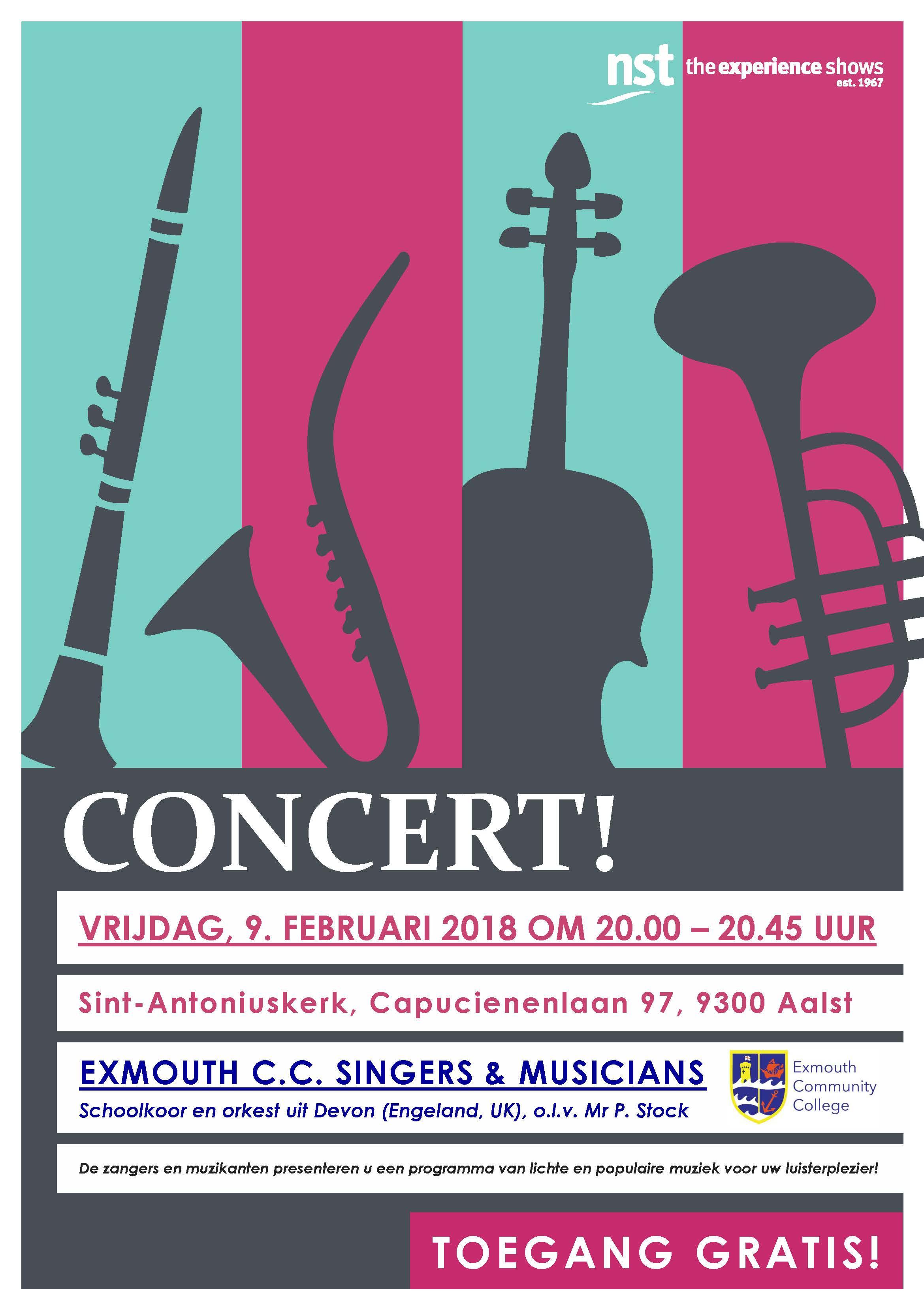Concert door de Exmouth C.C. Singers & Musicians