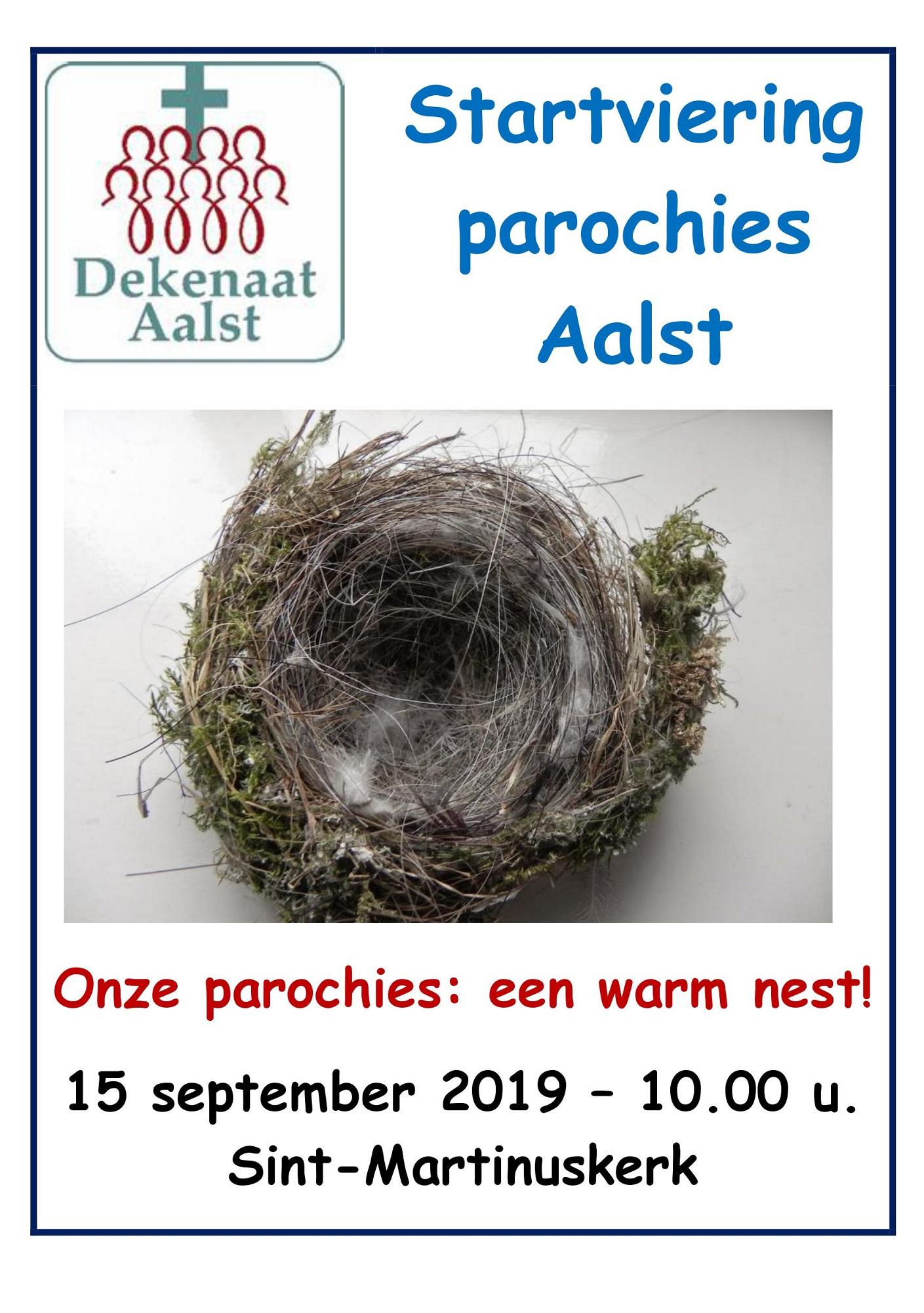 Uitnodiging voor de startviering van de parochies in groot-Aalst