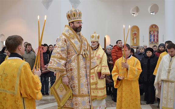 Byzantijnse viering met de Oekraïense grootaartsbisschop Sviatoslav Schevchuk © UGC