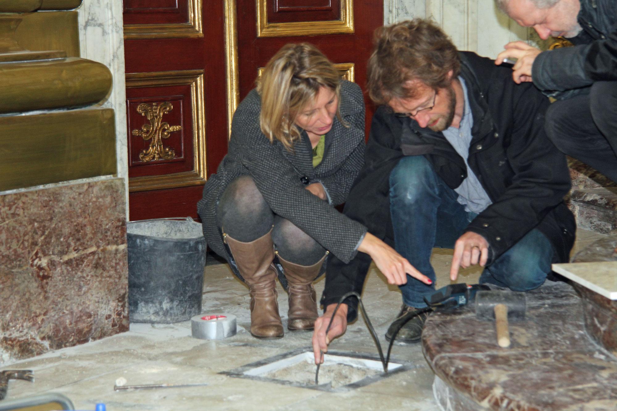Bij de opgraving in de Sint-Pieters en Sint-Pauluskerk © Stad Mechelen